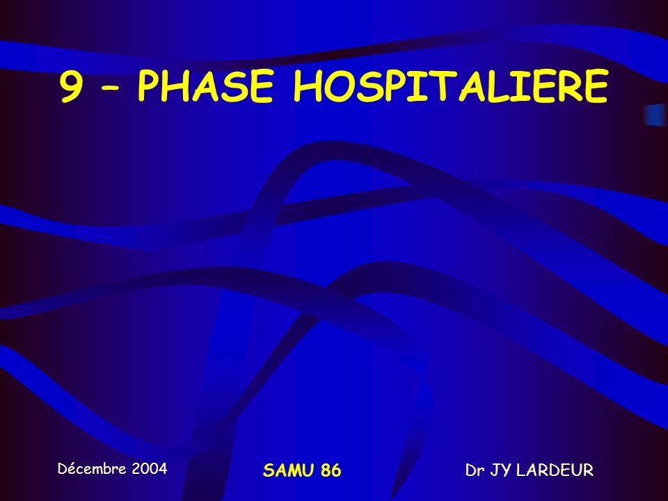 9 – PHASE HOSPITALIERE