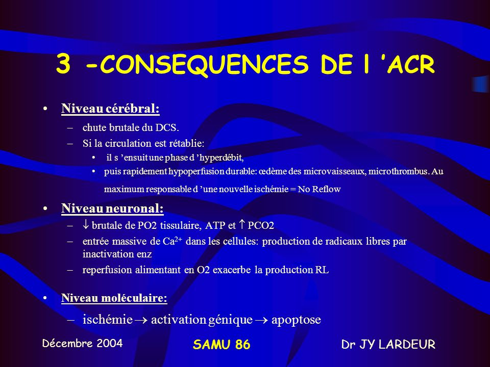 3 -CONSEQUENCES DE l 'ACR