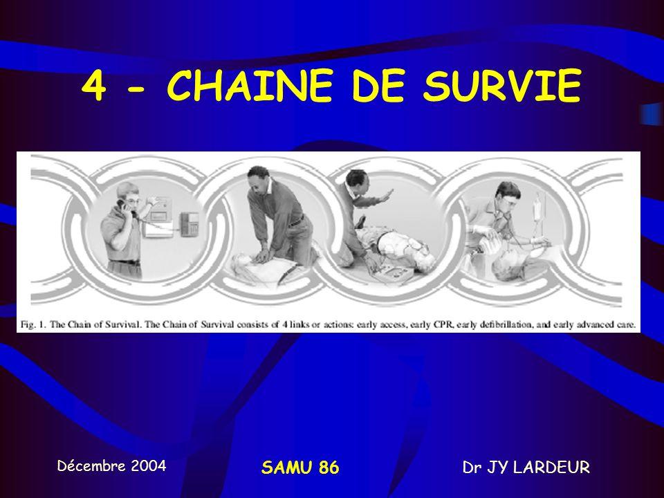 4 - CHAINE DE SURVIE