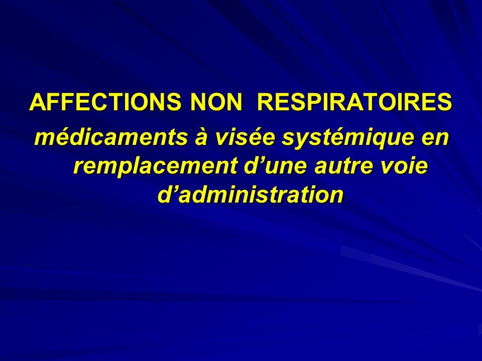 AFFECTIONS NON RESPIRATOIRES