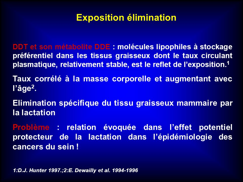 Exposition élimination