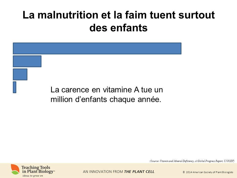 La malnutrition et la faim tuent surtout des enfants