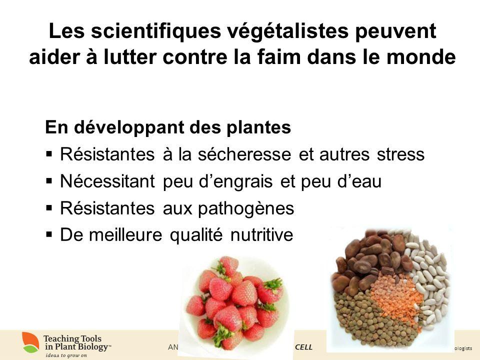 Les scientifiques végétalistes peuvent aider à lutter contre la faim dans le monde
