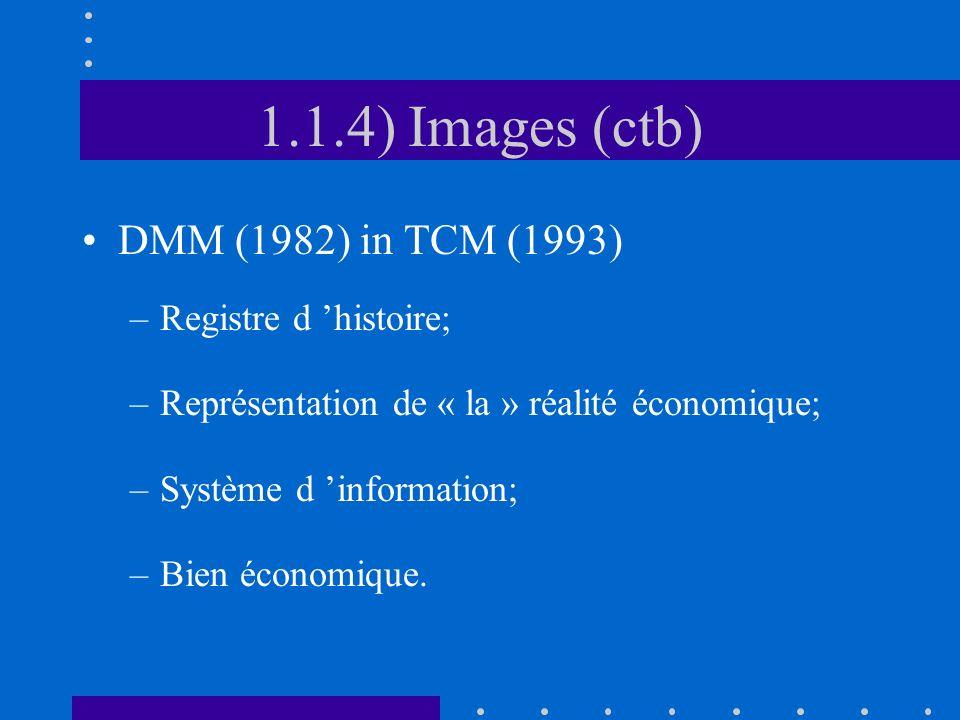 1.1.4) Images (ctb) DMM (1982) in TCM (1993) Registre d 'histoire;