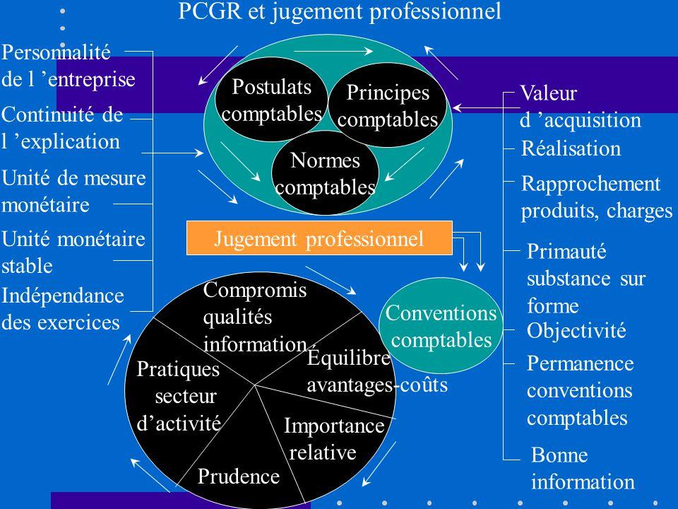PCGR et jugement professionnel