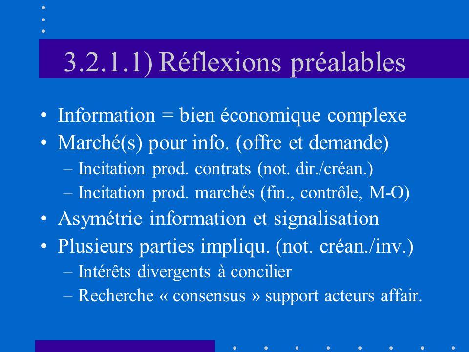 3.2.1.1) Réflexions préalables