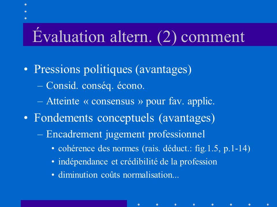 Évaluation altern. (2) comment