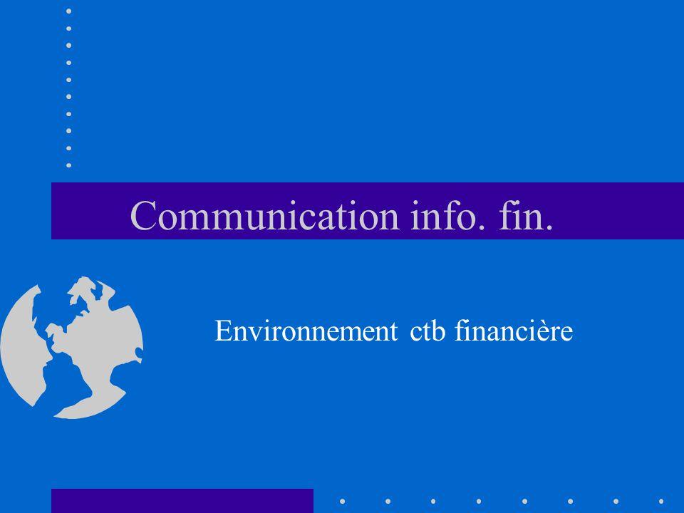 Communication info. fin.