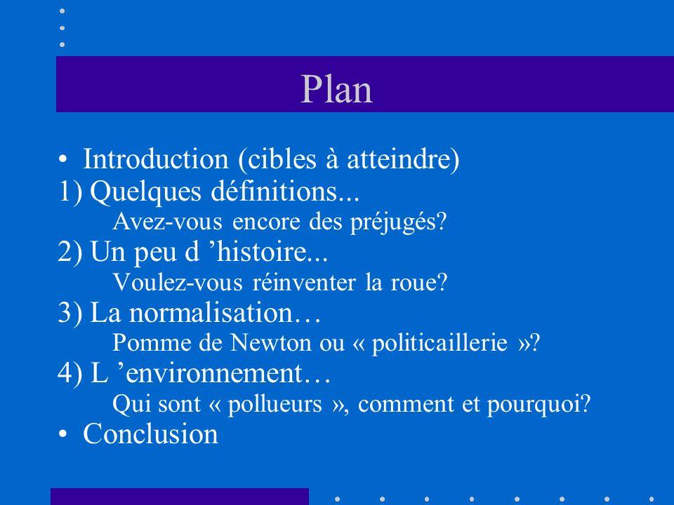 Plan Introduction (cibles à atteindre) 1) Quelques définitions...
