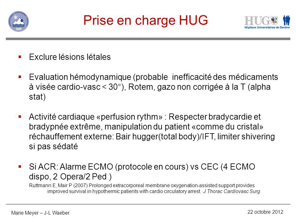 Prise en charge HUG Exclure lésions létales
