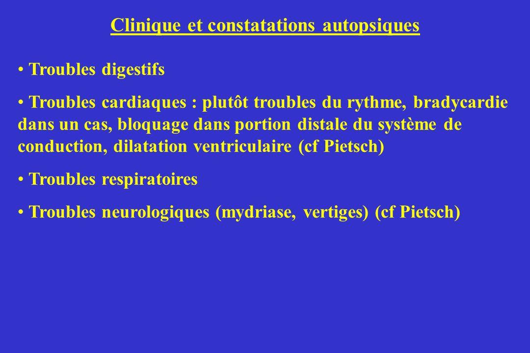 Clinique et constatations autopsiques