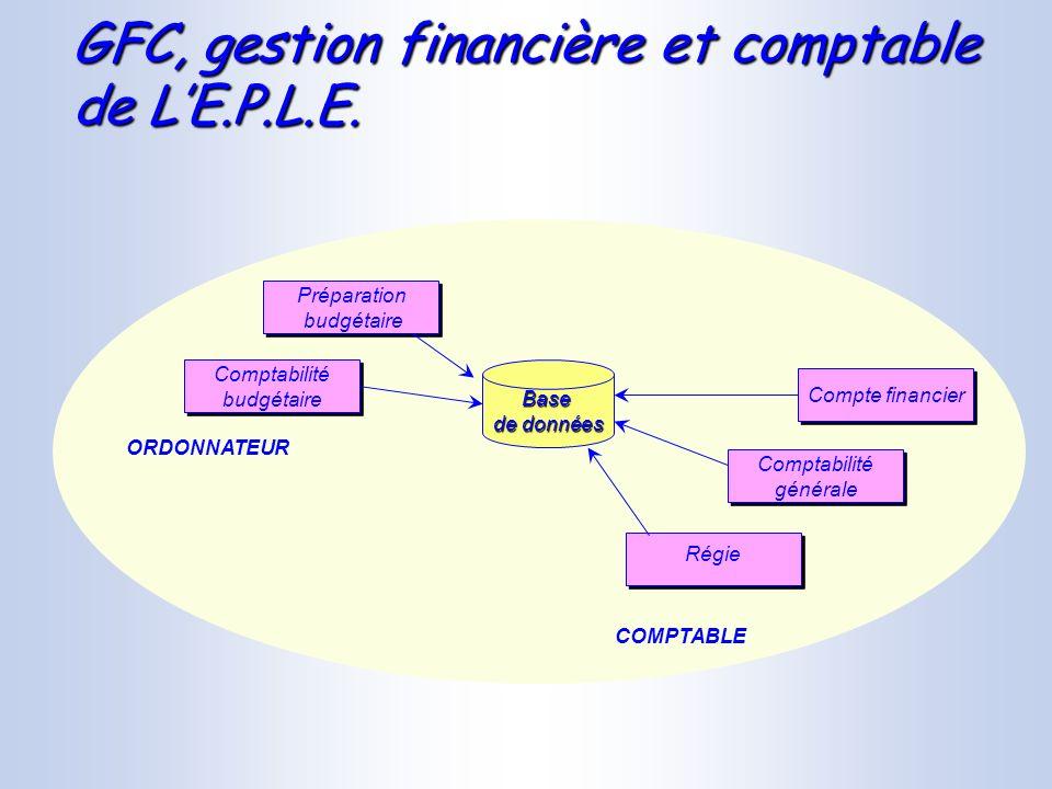 GFC, gestion financière et comptable de L'E.P.L.E.