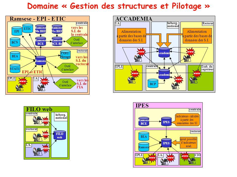 Domaine « Gestion des structures et Pilotage »