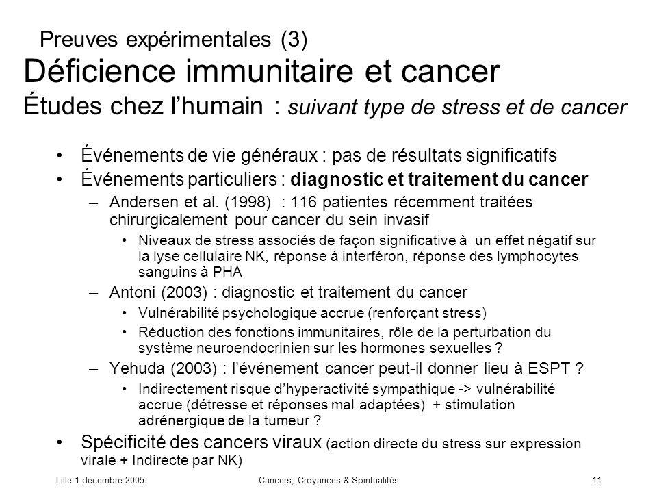 Cancers, Croyances & Spiritualités