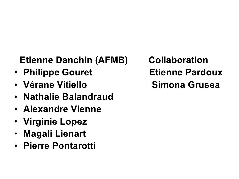 Etienne Danchin (AFMB) Collaboration