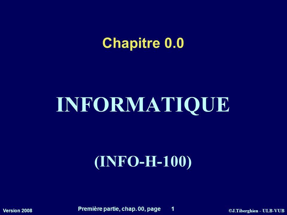 INFORMATIQUE (INFO-H-100)
