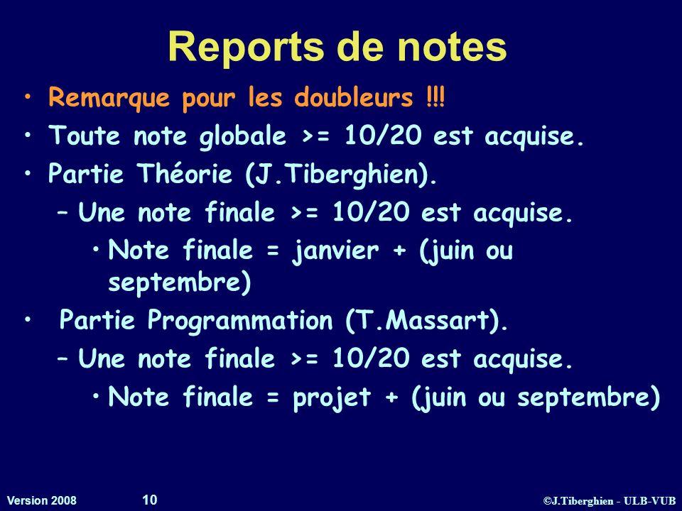 Reports de notes Remarque pour les doubleurs !!!