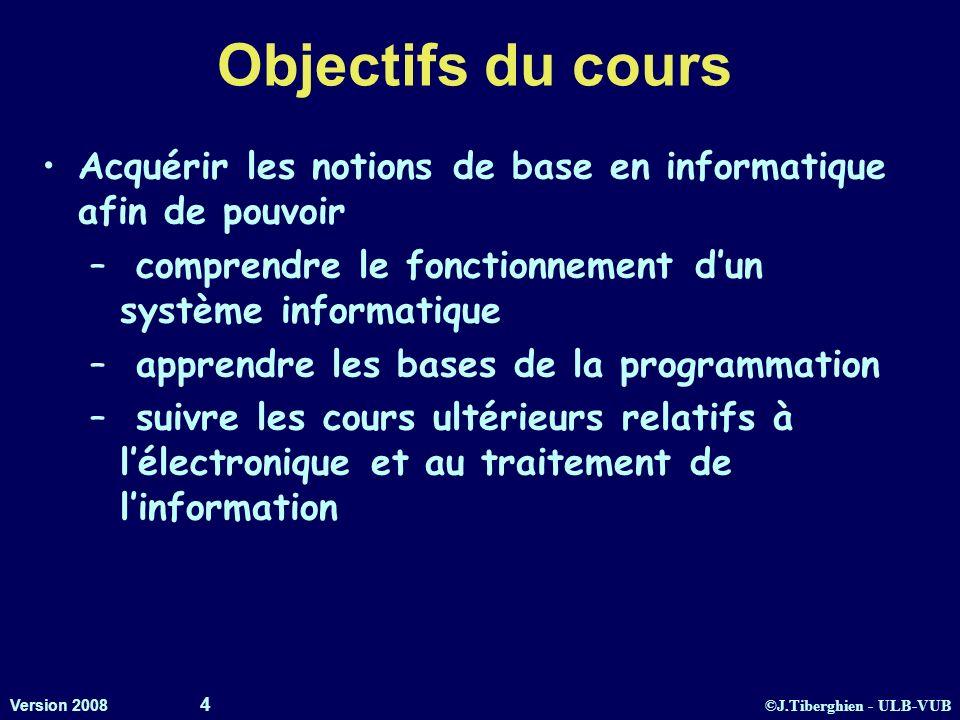 Objectifs du cours Acquérir les notions de base en informatique afin de pouvoir. comprendre le fonctionnement d'un système informatique.