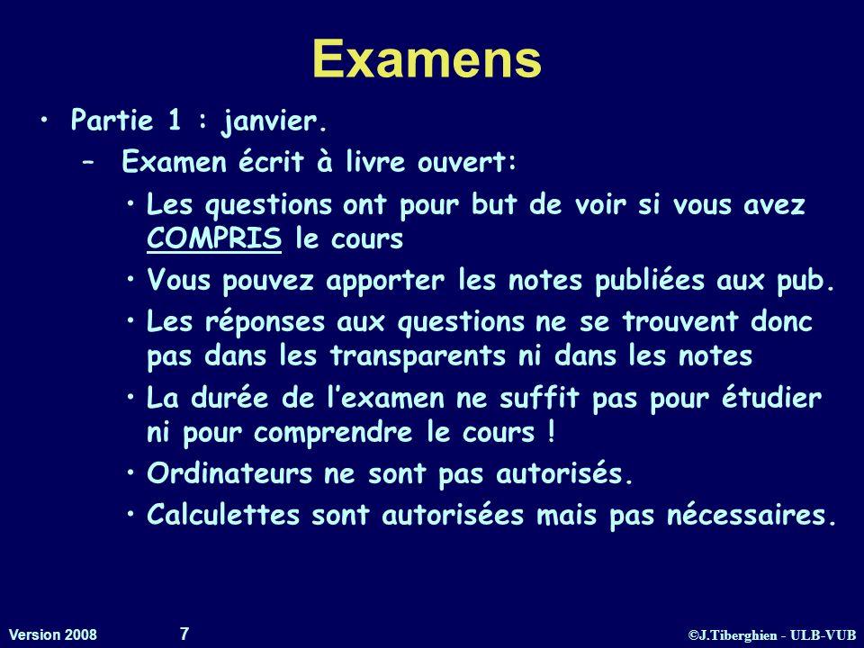 Examens Partie 1 : janvier. Examen écrit à livre ouvert: