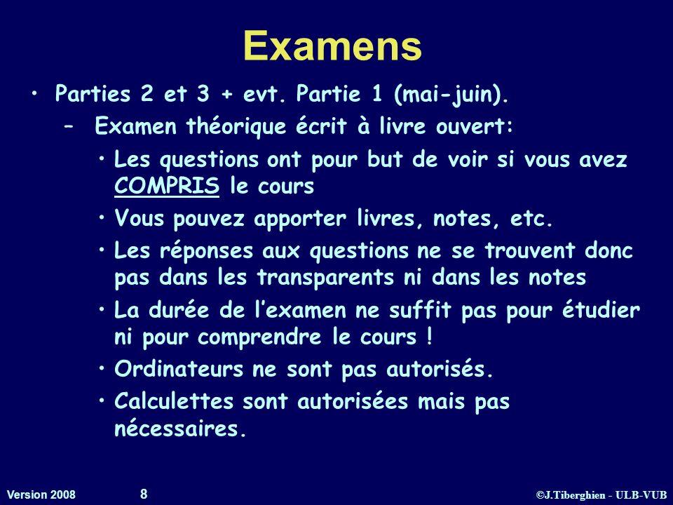 Examens Parties 2 et 3 + evt. Partie 1 (mai-juin).