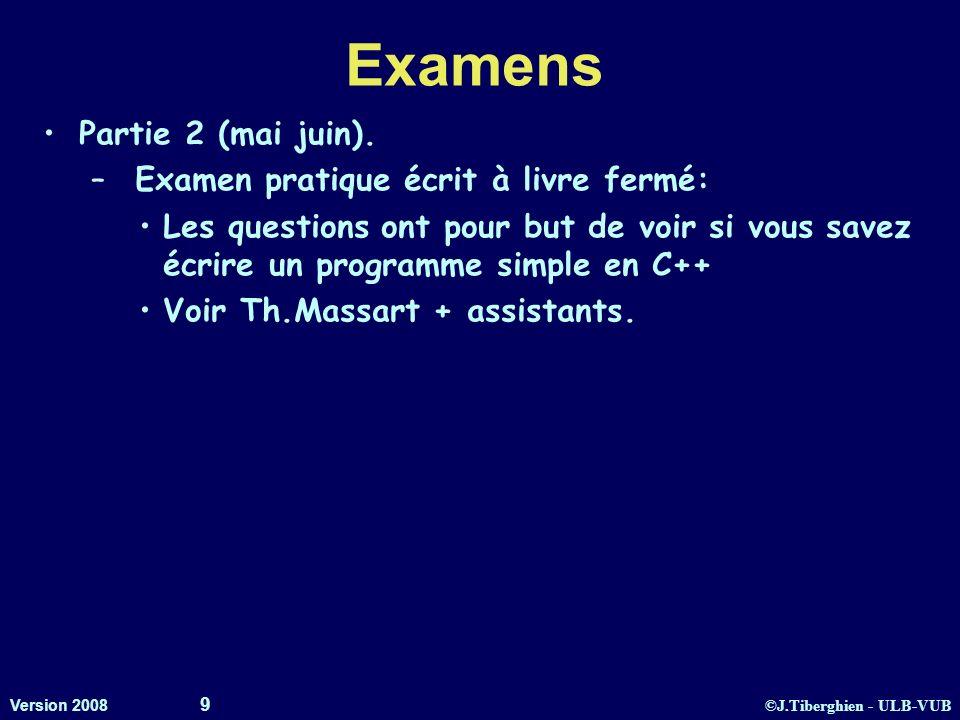 Examens Partie 2 (mai juin). Examen pratique écrit à livre fermé: