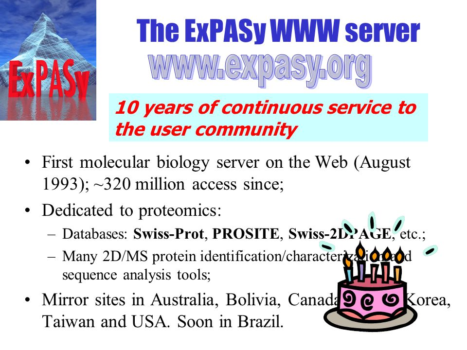 The ExPASy WWW server www.expasy.org