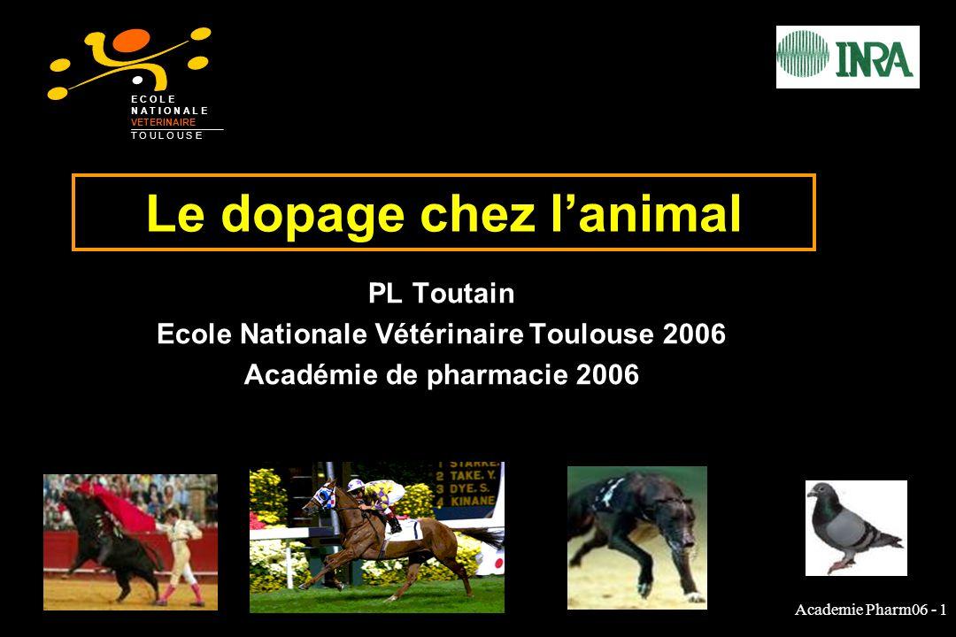 Le dopage chez l'animal