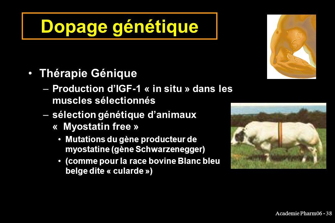 Dopage génétique Thérapie Génique