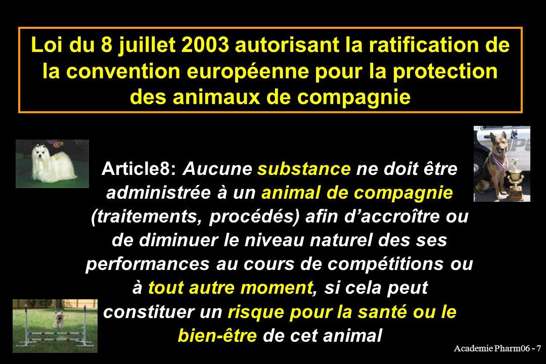 Loi du 8 juillet 2003 autorisant la ratification de la convention européenne pour la protection des animaux de compagnie