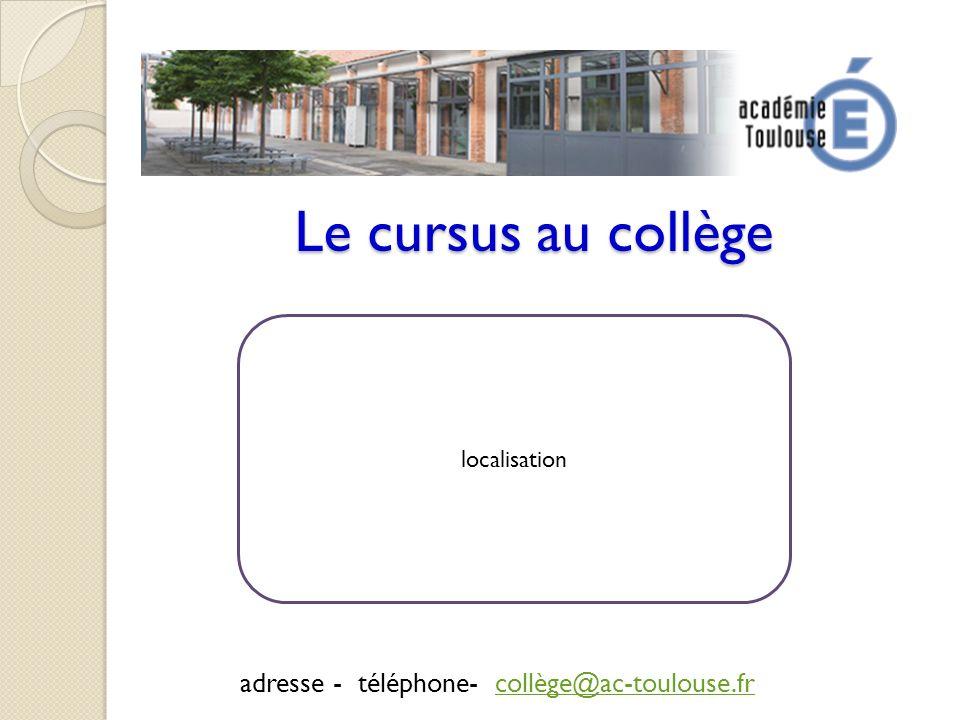 adresse - téléphone- collège@ac-toulouse.fr