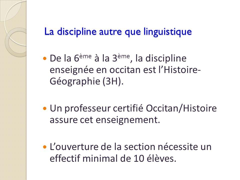 La discipline autre que linguistique