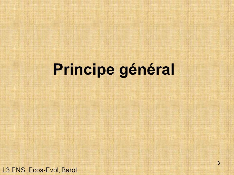 Principe général L3 ENS, Ecos-Evol, Barot