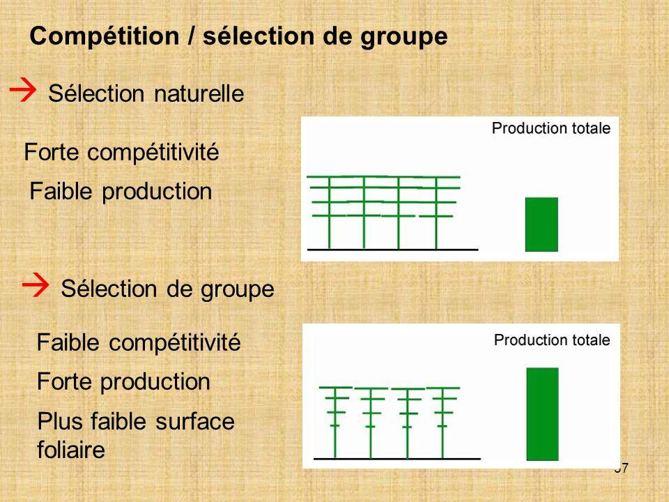  Sélection naturelle  Sélection de groupe
