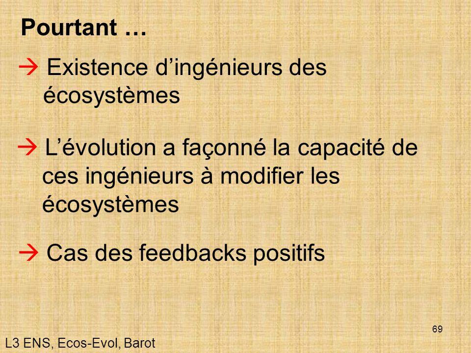  Existence d'ingénieurs des écosystèmes