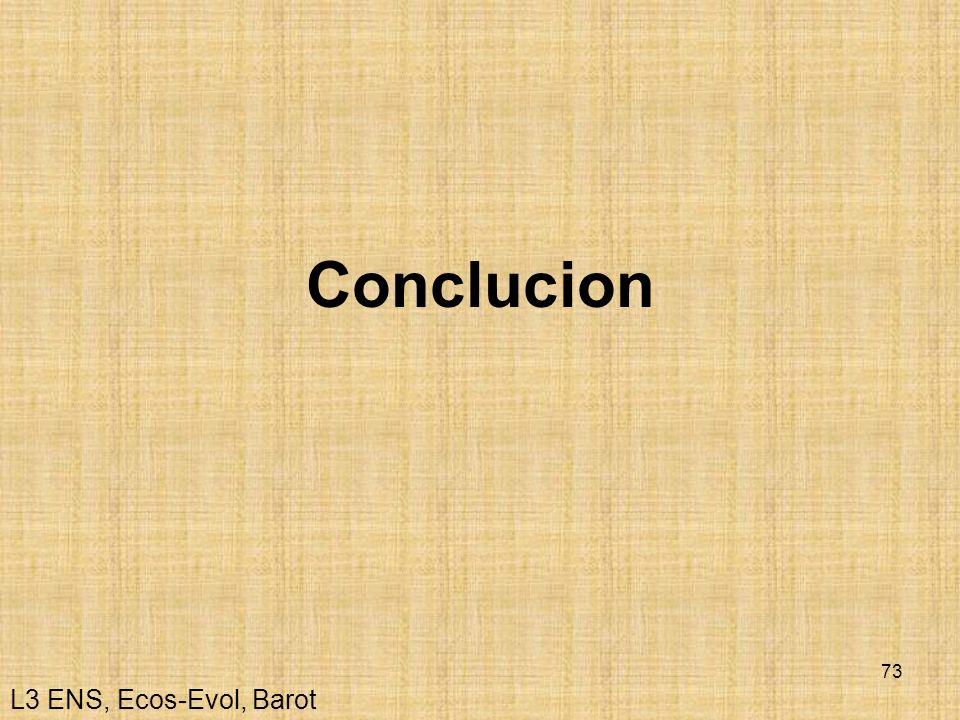 Conclucion L3 ENS, Ecos-Evol, Barot