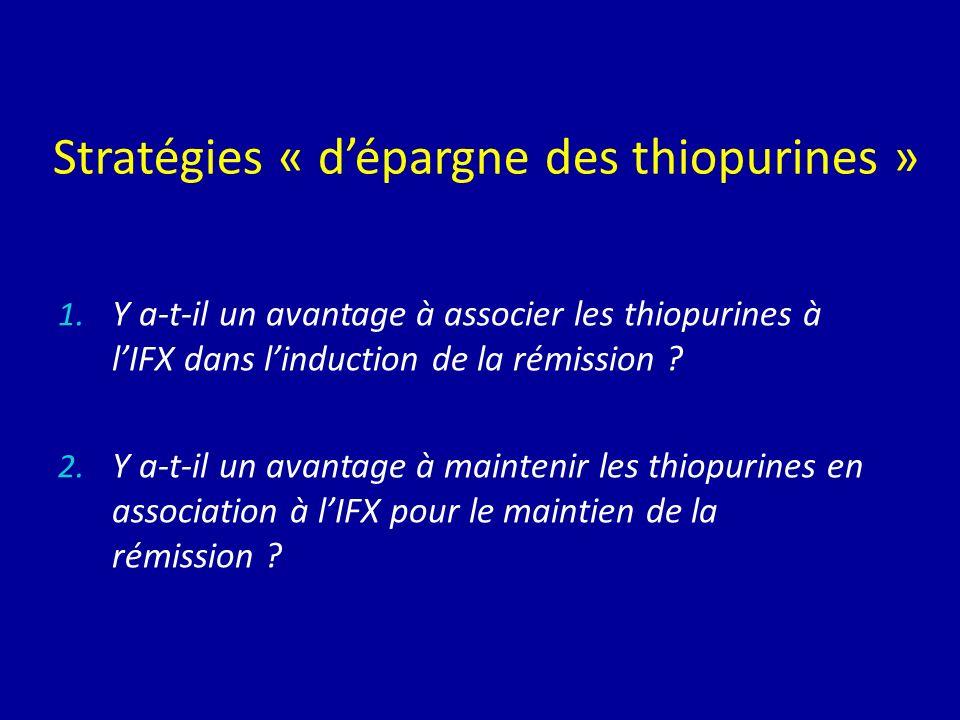 Stratégies « d'épargne des thiopurines »