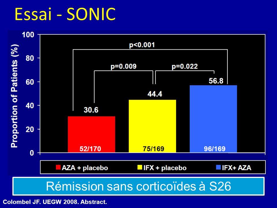 Rémission sans corticoïdes à S26
