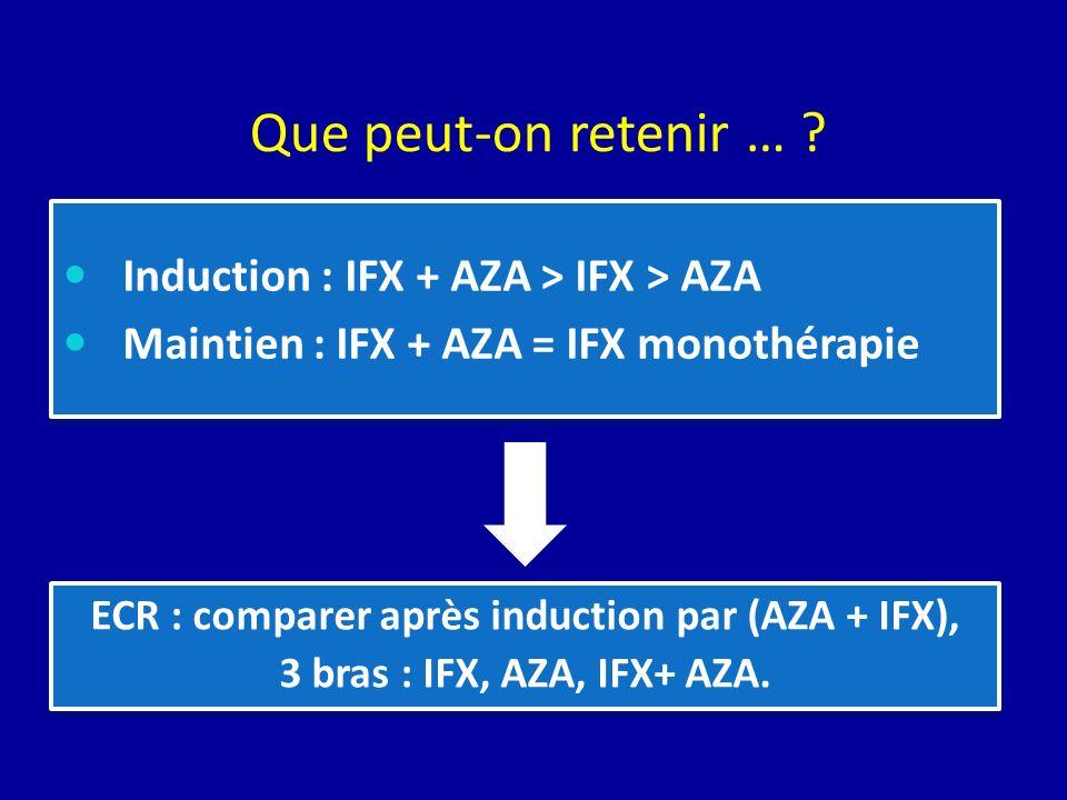 ECR : comparer après induction par (AZA + IFX),