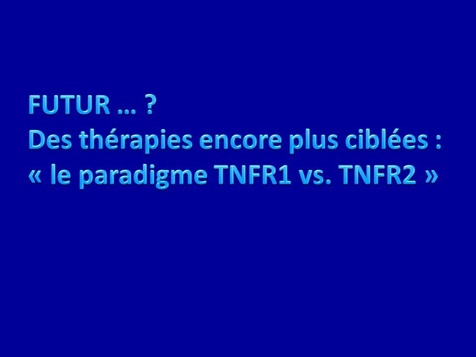 FUTUR …. Des thérapies encore plus ciblées : « le paradigme TNFR1 vs