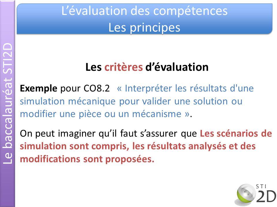 Les critères d'évaluation