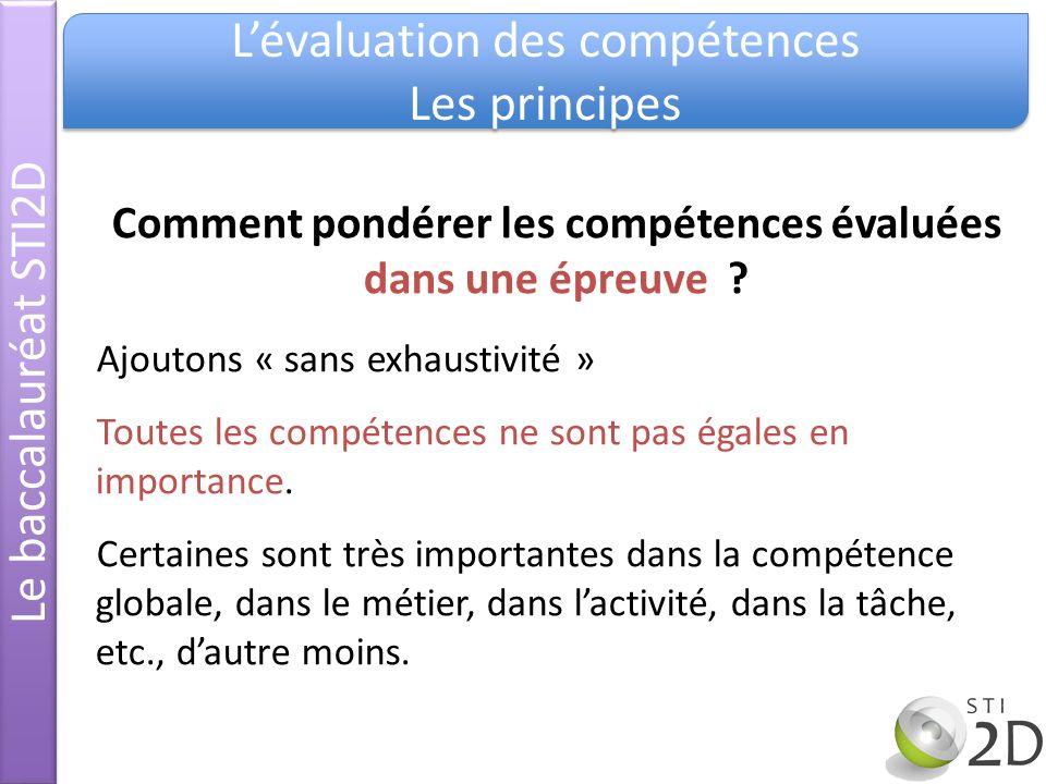 Comment pondérer les compétences évaluées dans une épreuve