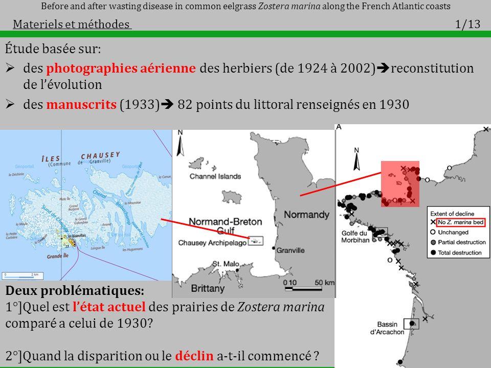 des manuscrits (1933) 82 points du littoral renseignés en 1930