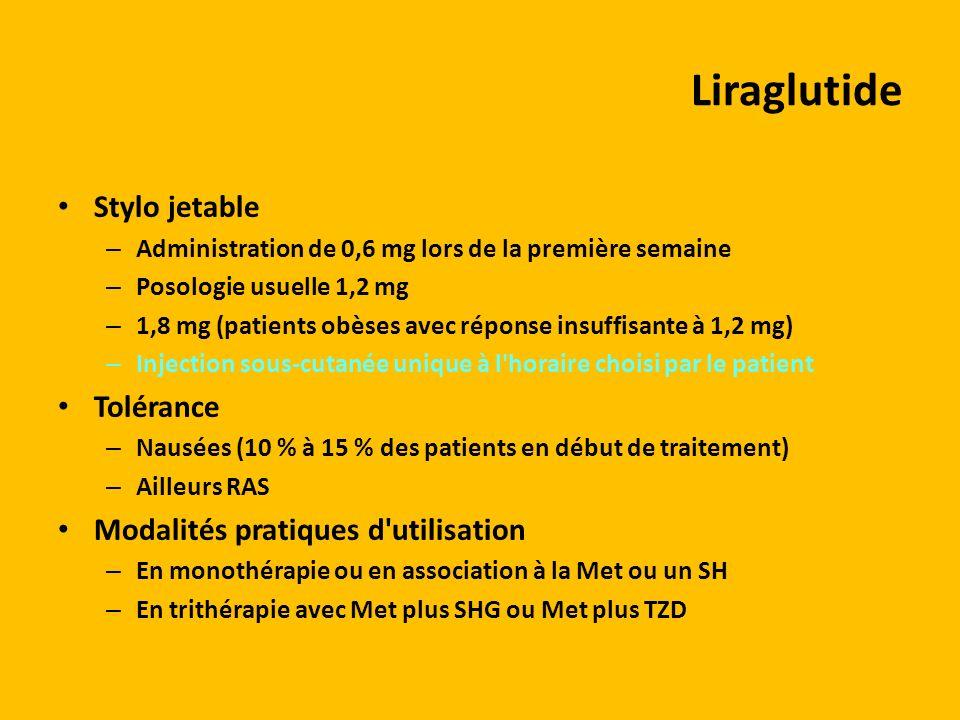 Liraglutide Stylo jetable Tolérance Modalités pratiques d utilisation