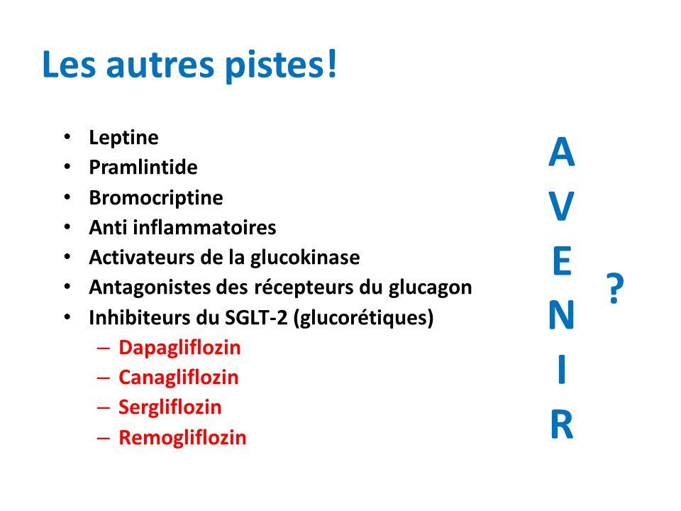 A V E N I R Les autres pistes! Leptine Pramlintide Bromocriptine