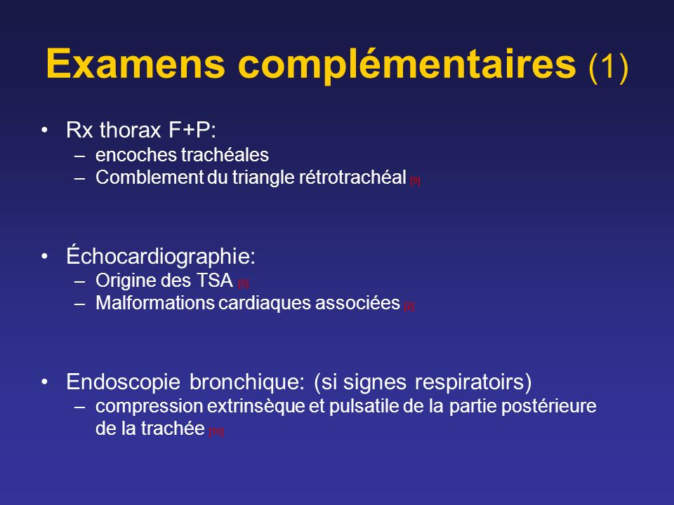 Examens complémentaires (1)