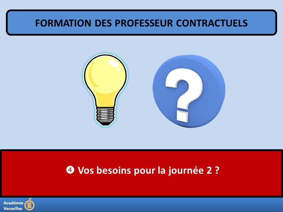 FORMATION DES PROFESSEUR CONTRACTUELS