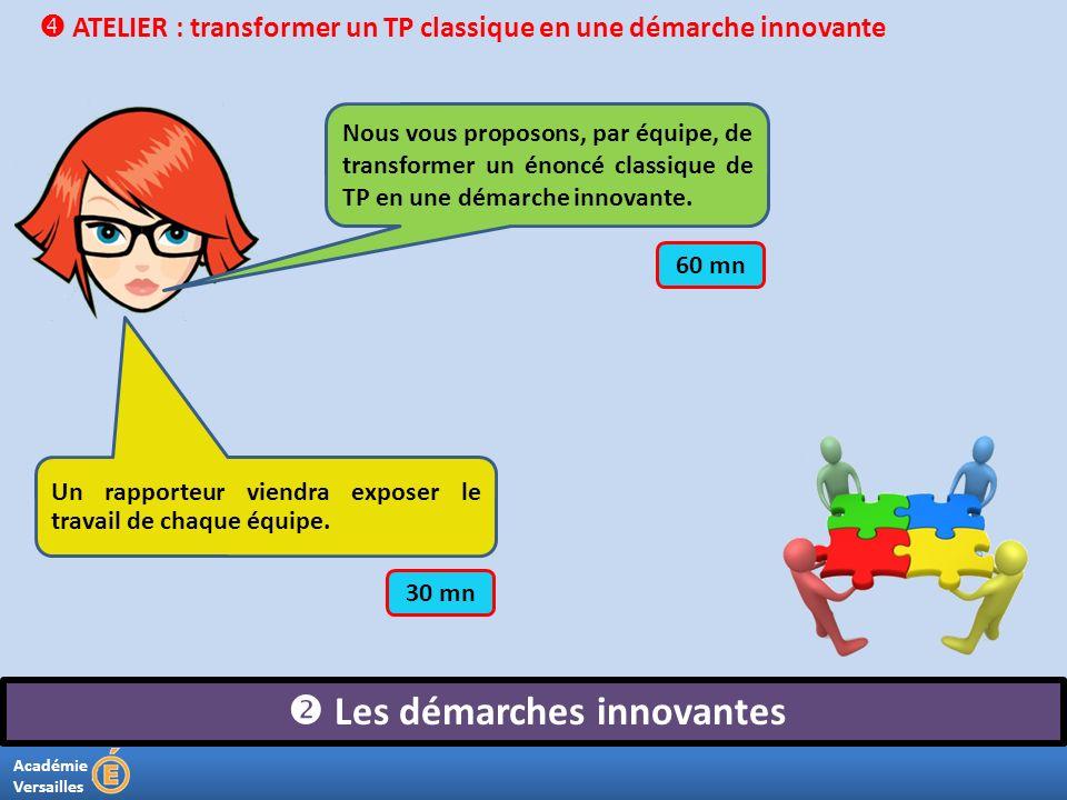  Les démarches innovantes