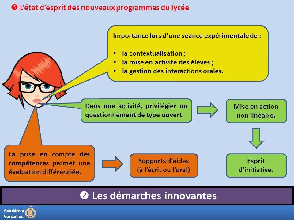 Mise en action non linéaire.  Les démarches innovantes