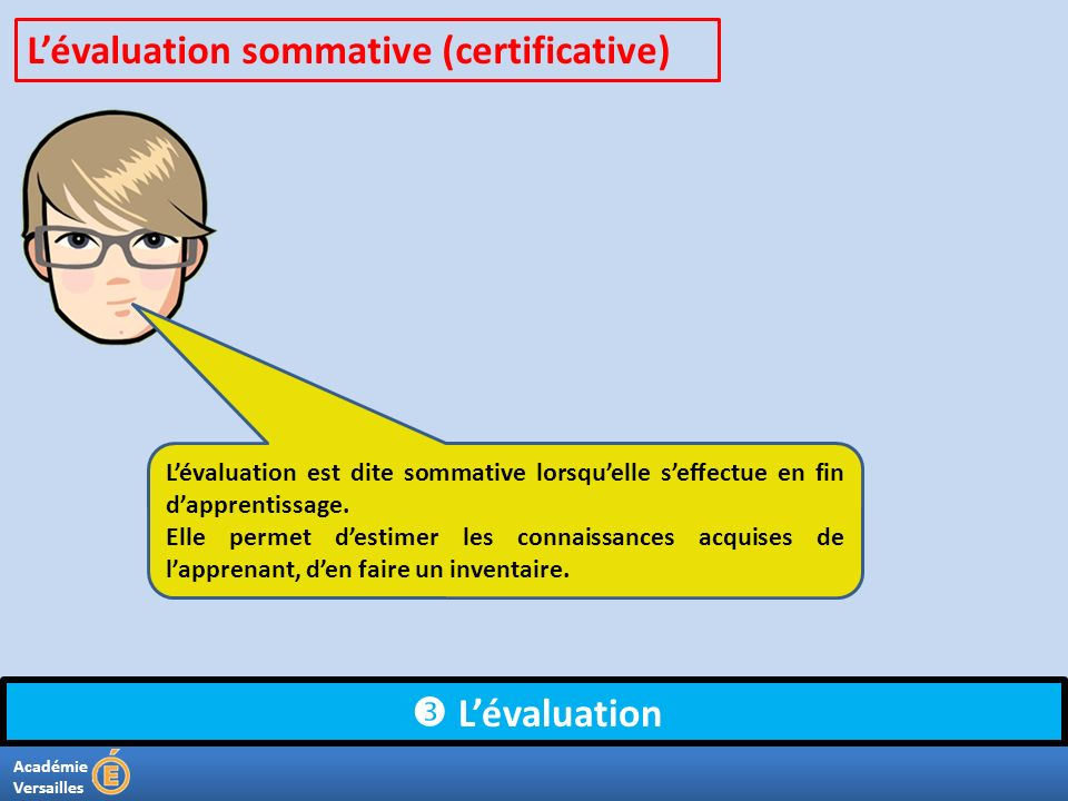L'évaluation sommative (certificative)