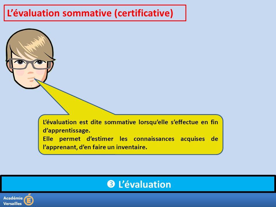 L'évaluation sommative (certificative)
